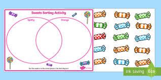 Venn Diagram In Maths Venn Diagram Sweets Sorting Activity Venn Diagram Maths Sort