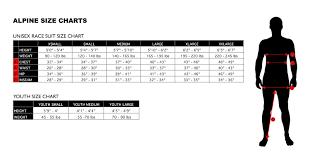 Inseam Size Chart Alpine Skiing Size Chart Podiumwear