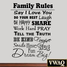 bright inspiration family rules wall art customized canvas wood personalized our 25