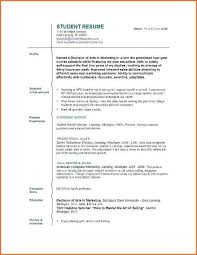 Resume For Teenager With No Work Experience Resume With No Job