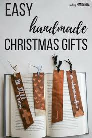 Cool Bookmark Designs To Make Diy Leather Bookmarks Easy Handmade Christmas Gifts