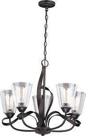 vaxcel h0185 cinta modern oil rubbed bronze chandelier light loading zoom