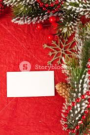 Blank Christmas Background Christmas Background With Blank Card And Decorations Copyspace For