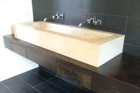 trough bathroom sink amazing two faucet