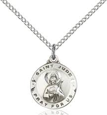 sterling silver saint jude pendant