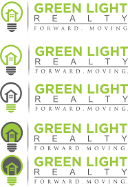 Light Realty Modern Elegant Real Estate Logo Design For Green Light