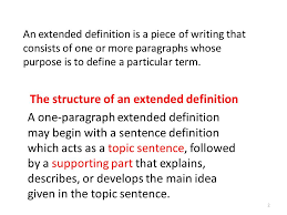 Example Of Extended Definition Essays Extended Definitions Essays