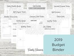 2019 Budget Binder Finance Binder Finance Printables Budget Planner Budget Binder Debt Tracker Family Budget Finances