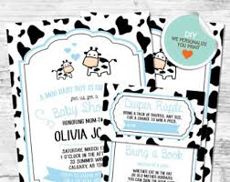 moo invitations baby shower invitation baby moo moo cow farm theme girl baby shower