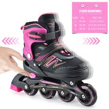 Roller Derby Boy S Tracer Adjustable Inline Skate Size Chart Inline Adjustable Skates Rollerblades Outdoor Sports Illuminating Wheels Roller Skates Shoes Children Tracer For Kids Boys Girls