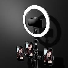 Selfie Ring Light For Makeup Us 18 98 30 Off Dimmable Led Selfie Ring Light Youtube Video Live Makeup Photography Lighting Photo Studio Light With Phone Holder Tripod In