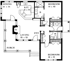 Small 2 Bedroom 2 Bath House Plans Country Style House Plan 2 Beds 200 Baths 1065 Sq Ft Plan 140 131
