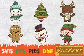 Cute Christmas Character Graphic By Piedesigner Creative Fabrica