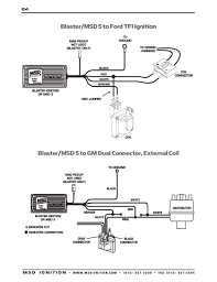 msd ignition wiring diagrams msd 5 series blaster to gm dual connector external coil
