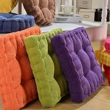 plaid winter warm chair pad cushion