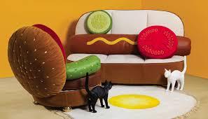 hot dog sofa burger chair
