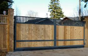 wood and iron double drive swing gate wood fence gate7 wood