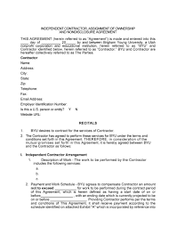 Service Agreement Samples 004 Contract For Services Self Employed Free Template