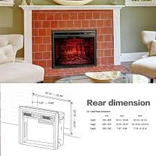 33 electric fireplace insert electric fireplace insert glass door and mesh screen akdy 33 inch electric