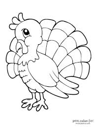 No numbers to follow on this dot to dot, just a simple exercise. 20 Terrific Thanksgiving Turkey Coloring Pages For Some Free Printable Holiday Fun Print Color Fun
