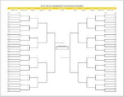 Excel Ncaa Tournament Bracket Tournament Bracket Template Excel Ncaa Basketball Single And Double
