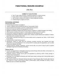 job summary resume cipanewsletter summary of job qualifications template