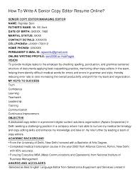 managing editor resume how to write a senior copy editor resume online_