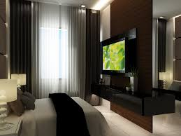 modern bedroom with tv. Modern Bedroom Decor Metallic Trends Of Young Adult Use Lcd Tv And Small Space Along With O