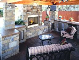 build outdoor fireplace kit how cinder blocks to an on a wood deck stone grill