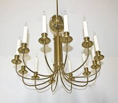 rare parzinger acanthus leaf brass chandelier for at 1stdibs
