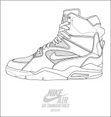 nike air mand force basketball shoes coloring pages enjoy coloring