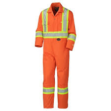 Pioneer 5555 V2520250 Flame Resistant Cotton Safety Coverall Orange Regular Sizes