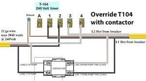 contactors override t104 timer