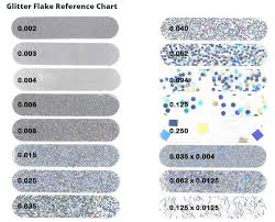 Glitter Size Chart Jpg Charlie Rose Creations