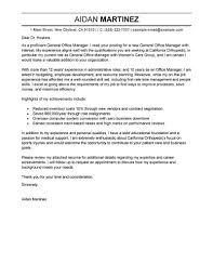 Best Admin General Manager Cover Letter Examples Brilliant Ideas Of
