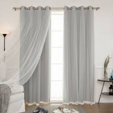 Of Curtains For Living Room Aurora Home Mix And Match Curtains Blackout And Tulle Lace Sheer