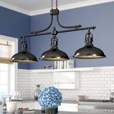 lighting in a kitchen. Beachcrest Home Martinique 3-Light Kitchen Island Pendant \u0026 Reviews   Wayfair Lighting In A