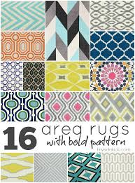 affordable area rugs with bold pattern