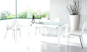 contemporary white dining room sets round white dining table modern large size of minimalist dining tables