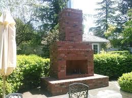 brick outdoor fireplace outside brick fireplace ideas