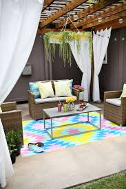 outdoor painted rug diy through for tutorial