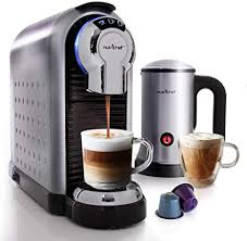 Make sure to leave at least three fingers of space for your cold foam. Amazon Com Nutrichef Nespresso Machine Coffee Cappuccino Maker With Milk Frother Compatible With Nespresso Coffee Capsule Pods Instant Heating And 3 Brewing Sizes Pknespreso70 Kitchen Dining