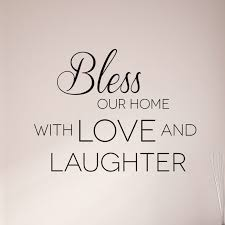 on bless our home wall art with bless our home with love and laughter christian wall art decal