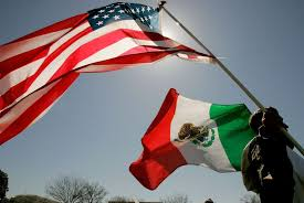 mexican american war flags. Wonderful American A Protester Holds An American Flag And A Mexican While Participating  In Protest With War Flags R