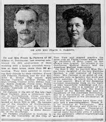 Dr and Mrs Parsons-Son of Enos Parsons and ancestor of Cornet Joseph -  Newspapers.com