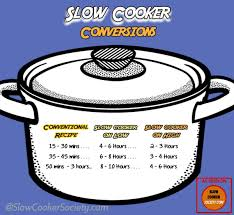 Slow Cooker To Pressure Cooker Conversion Chart Make Your Favorite Oven And Stove Top Recipes In The Slow