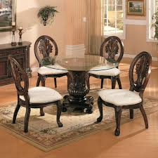 5 piece dining table set 5 piece gl dining table set 4 leather chairs kitchen furniture