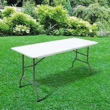 6ft folding table heavy duty outdoor trestle picnic garden table billyoh