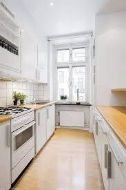 white galley kitchens. White Galley Kitchen With Butcher Block Countertops White Galley Kitchens