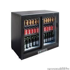 double sliding door drink cooler